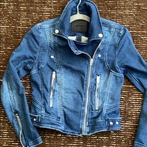 BlankNYC Denim Moto Jacket xs